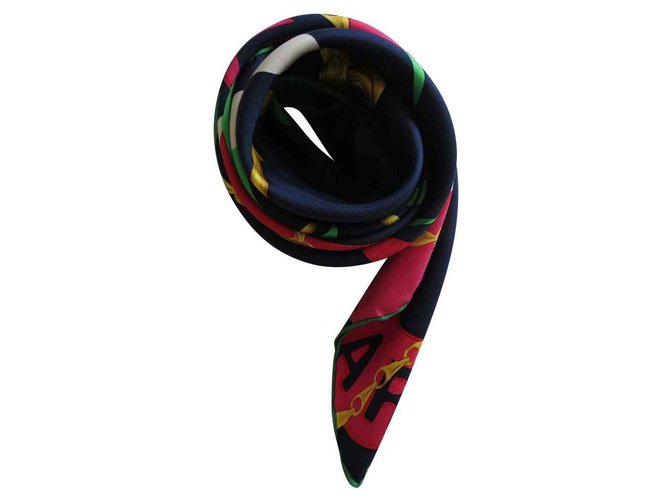 Céline -Carryed in silk twill, Made in Italy, signed CELINE Paris Silk scarves Silk Multiple colors ref.126032