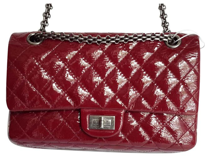 994eba992af936 Chanel TIMELESS 2.55 Handbags Patent leather Red ref.126124 - Joli ...