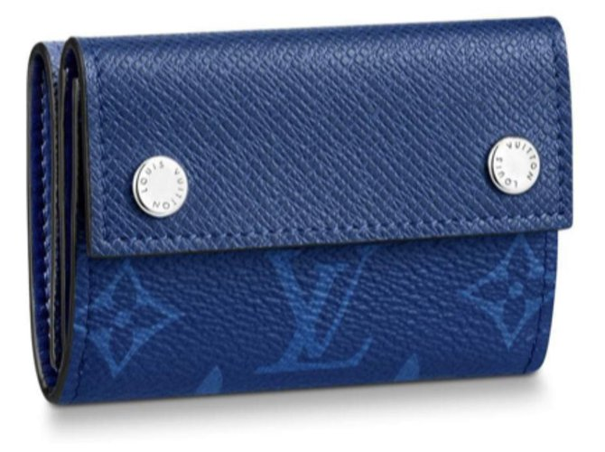 Louis Vuitton Wallets Small accessories Wallets Small accessories Leather Blue ref.126197