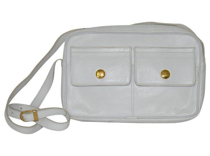 Céline Handbags Handbags Leather White ref.126221