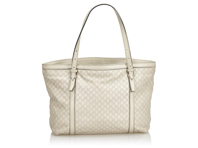 c5547f401 Gucci Gucci Gray Microguccissima Leather Nice Tote Bag Totes Leather,Other  Other,Grey ref
