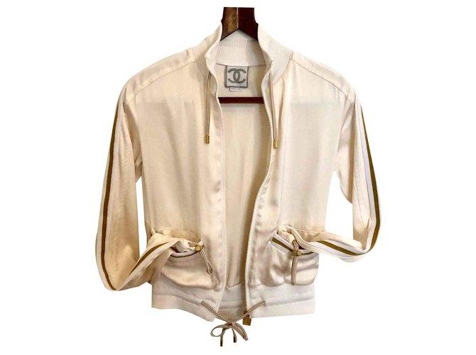 Chanel Chanel Identification Jackets Silk Pink ref.126373