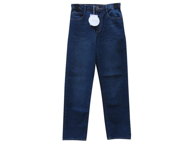 Chloé Jeans Jeans Cotton Blue ref.126395