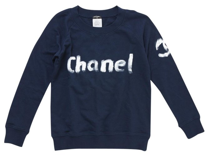 Chanel COLLECTOR LIMITED EDITION Knitwear Cotton Navy blue ref.126427