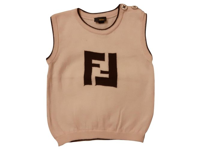 Fendi Tops Tees Tops Tees Cotton Beige ref.126443