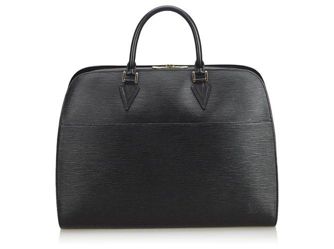 Louis Vuitton Louis Vuitton Black Epi Sorbonne Misc Leather Black ref.126466