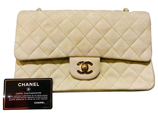 Chanel Chanel Timeless/Classique Handbags Leather Green ref.126588