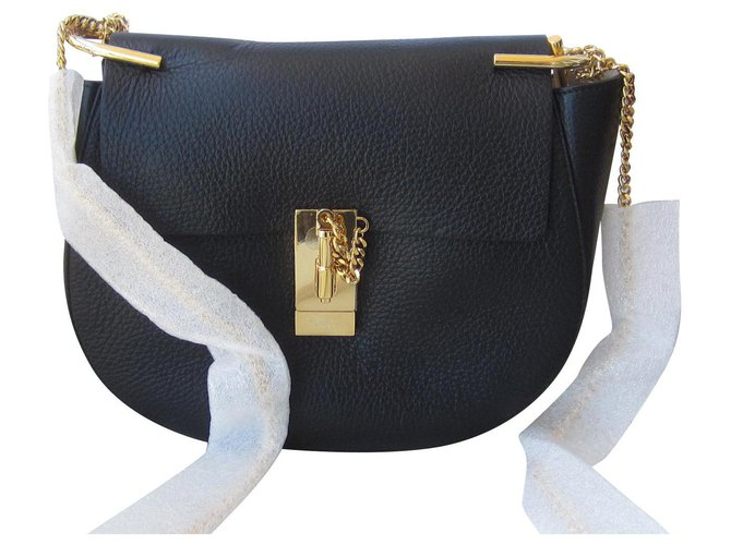 Chloé drew Handbags Leather Black ref.126619
