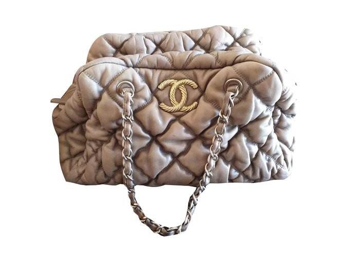 Chanel bubble Handbags Leather Light brown ref.126761