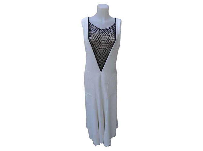 Céline Dresses Dresses Polyester,Viscose,Elastane Black,Cream ref.126765