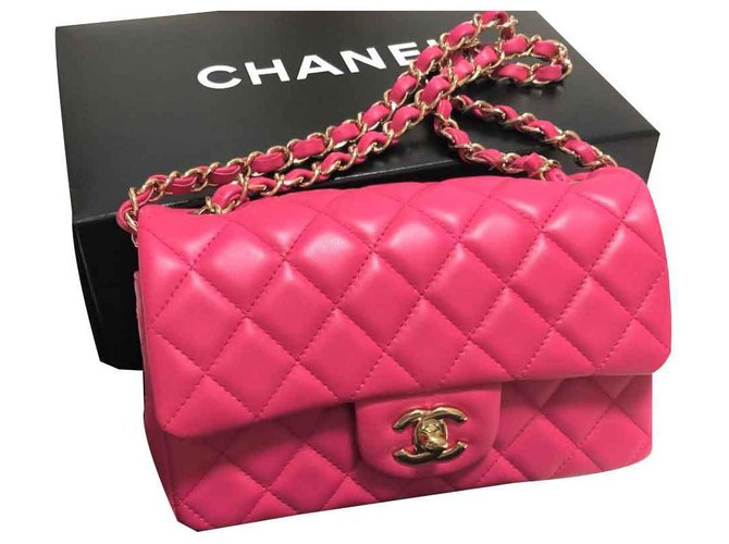Chanel Hot Pink Mini Rectangular