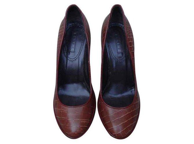 Céline Heels Heels Leather Brown ref.126859
