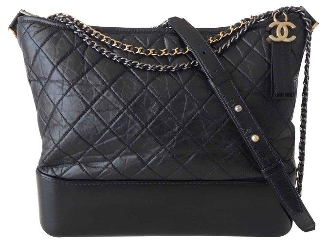 Chanel CHANEL GABRIELLE BAG Handbags Leather Black ref.126900