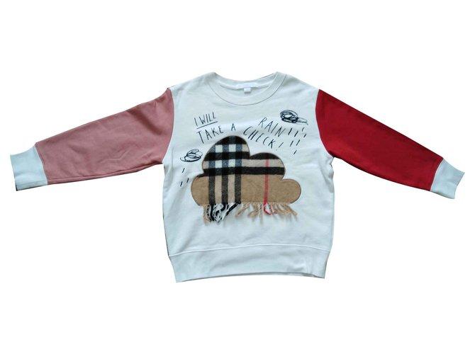 Pulls, gilets fille Burberry Cloud Coton Multicolore ref.126919