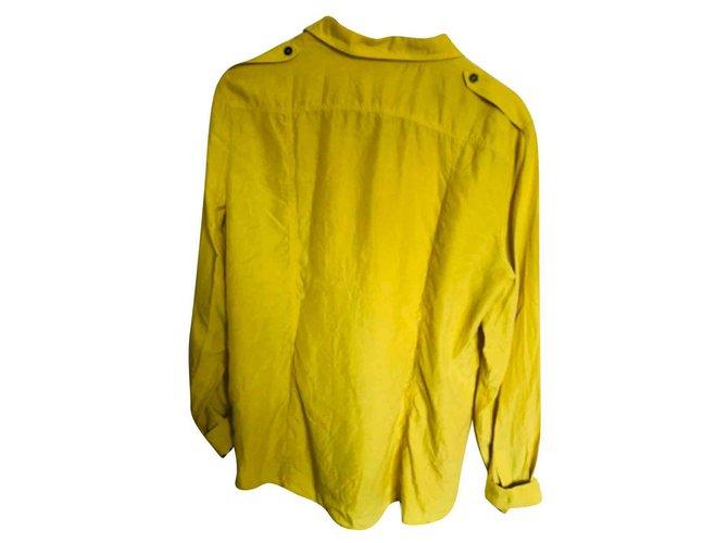 Burberry Tops Tops Silk Yellow ref.127206