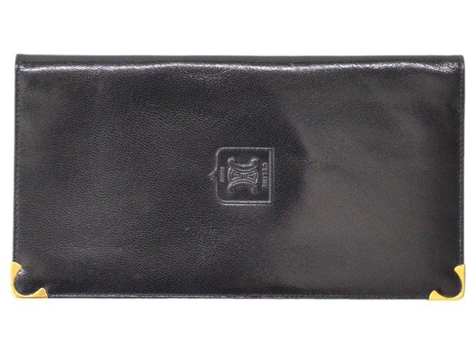 Céline Céline Long Wallet Purses, wallets, cases Leather Black ref.127550