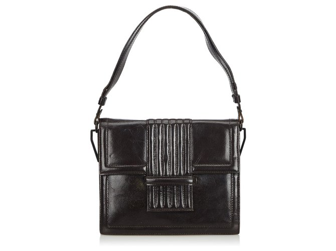 authentic hot-selling professional amazing quality YSL Black Leather Shoulder Bag
