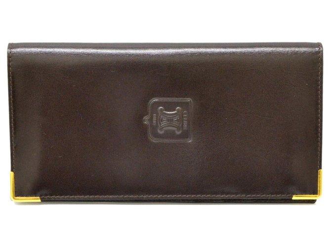 Céline Céline Long Wallet Purses, wallets, cases Leather Brown ref.127882