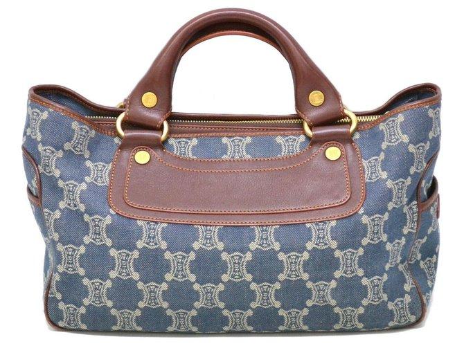 Céline Céline Boogie Macadam Handbags Cloth Blue ref.127934