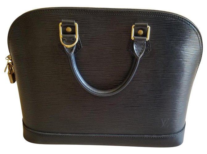 Sacs à main Louis Vuitton ALMA Cuir Noir ref.127966