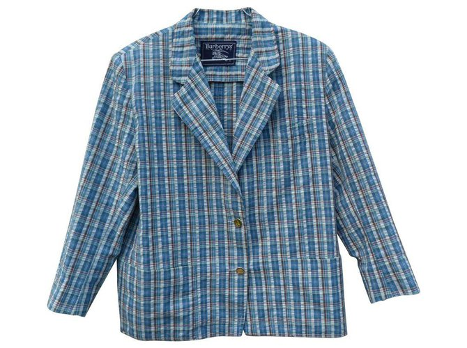 Burberry Jackets Jackets Cotton White,Blue ref.127971