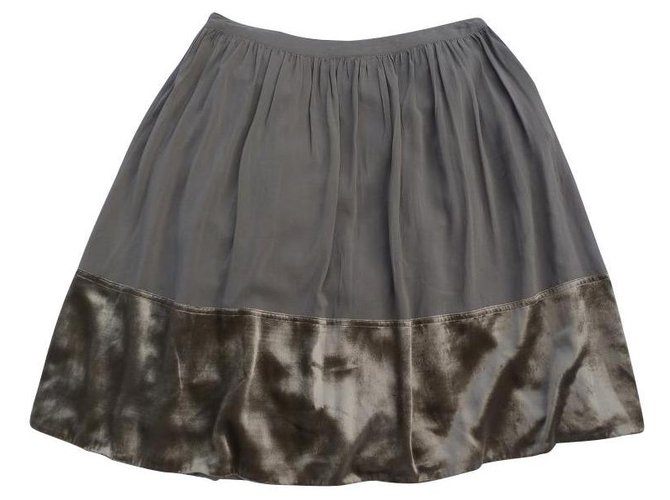 Burberry Skirts Skirts Silk,Velvet Golden,Light brown ref.127976