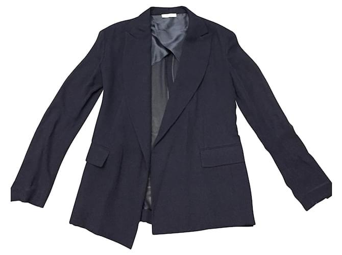 Céline Blazer silk Jackets Silk Blue ref.128004