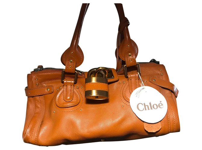 Chloé Paddigton Handbags Leather Caramel ref.128069