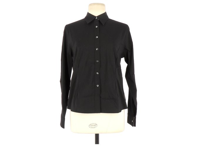 Burberry Shirt Tops Cotton Black ref.128558