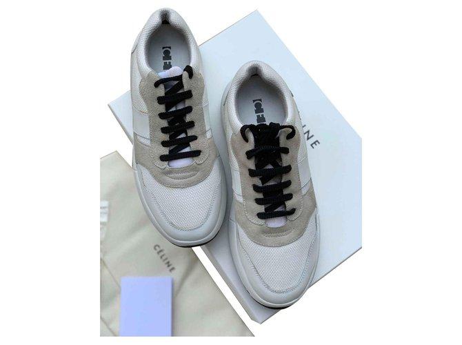 Céline Sneakers Sneakers Cloth White ref.128630