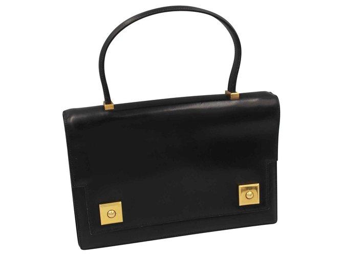 Hermès piano Handbags Leather Black ref.128670