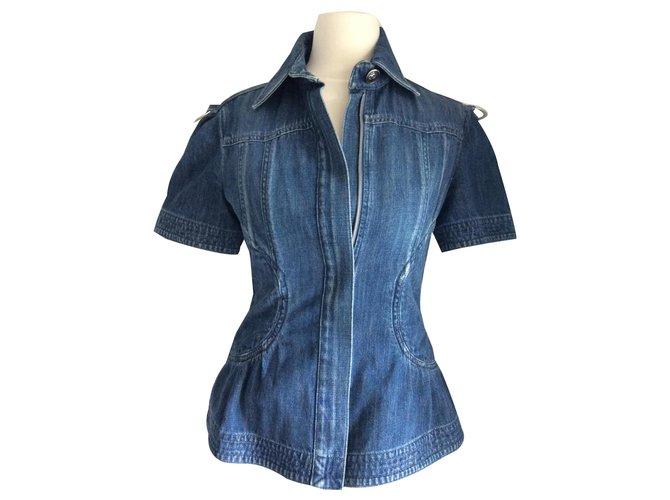 Chanel Jackets Jackets Cotton Blue ref.128916