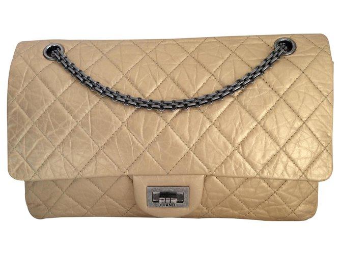 Chanel Handbags Handbags Leather Golden ref.128917