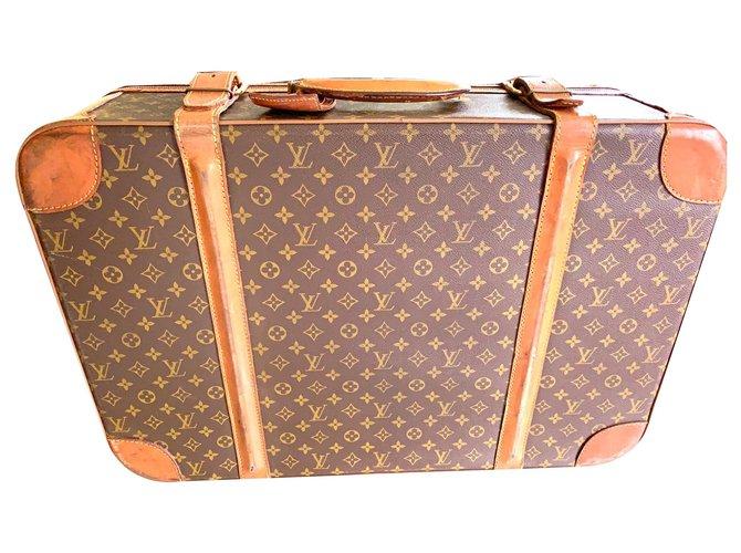 Louis Vuitton Stratos Travel bag Cloth Brown ref.129133