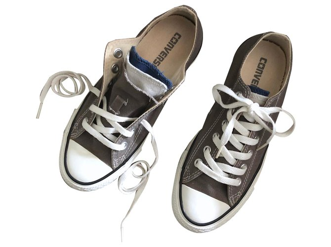 Converse Converse gray limited series with tongue of 3 T colors. 4,5 Sneakers Rubber,Cloth White,Grey ref.129445