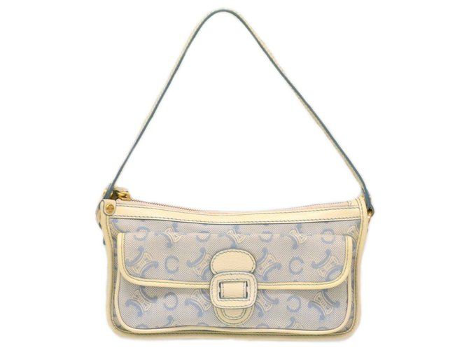 Céline Céline Macadam Hand Bag Handbags Cloth Blue ref.129450