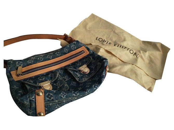 Louis Vuitton Hand bags Handbags Cloth Blue ref.145196