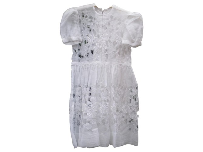 Robes fille Autre Marque Robes Tulle Blanc ref.129536