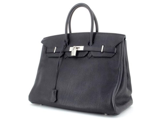 Sacs à main Hermès Birkin 40 Togo Cuir Noir ref.129600
