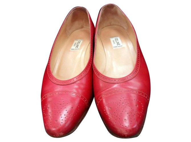 Céline Heels Heels Leather Red ref.129736
