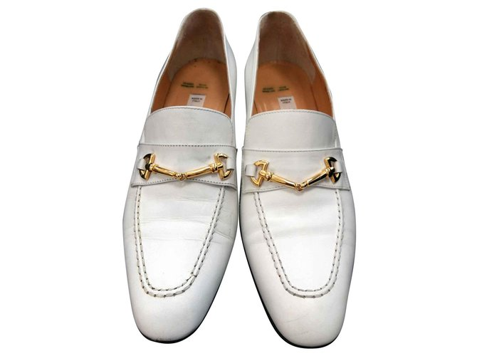 Céline Church´s Loafers Flats Leather White ref.129739