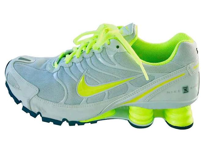 new collection nice shoes authentic quality Baskets Nike NIKEiD Nike Shox Turbo VI iD Tissu Blanc ref ...