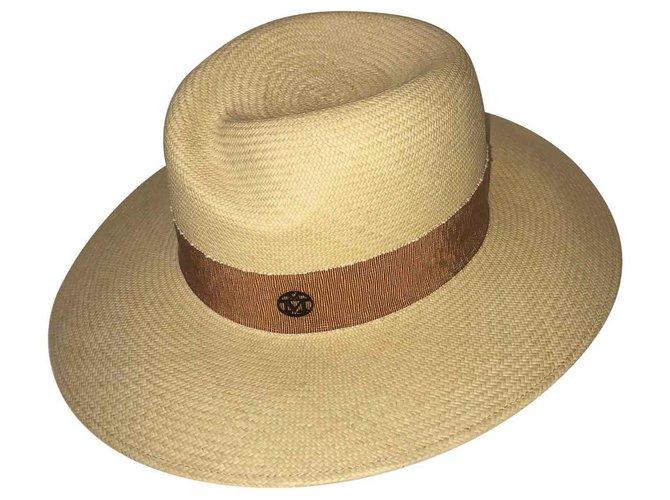 Maison Michel Virginia Hats Straw Beige ref.129823
