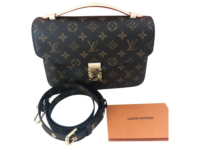 Louis Vuitton POCHETTE METIS Handbags Leather Brown ref.129849