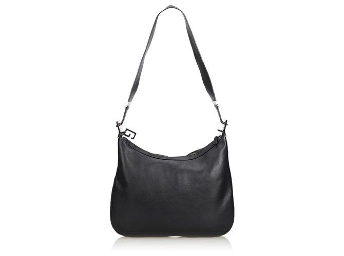 5710f4216 Gucci Gucci Black Leather Shoulder Bag Handbags Leather,Other Black  ref.129991