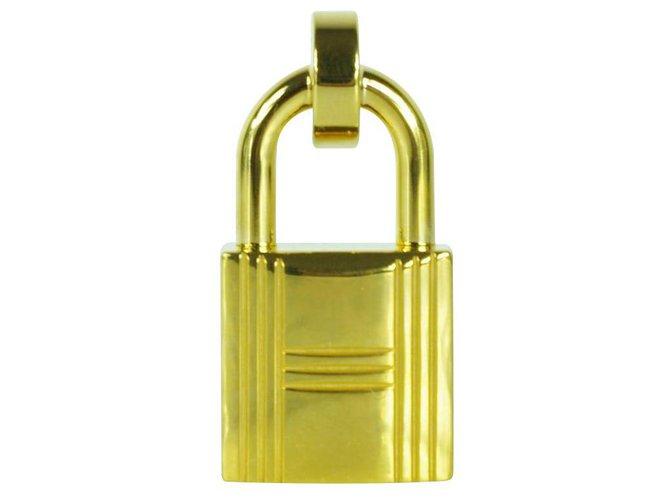Hermès Padlock belt buckle Belts Metal Golden ref.130116