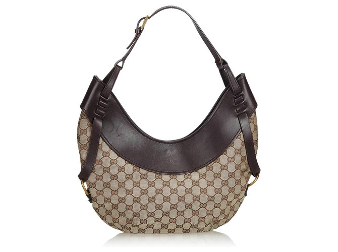 01c69d30173 Gucci Brown GG Canvas Hobo Bag