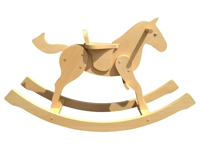 Hermès Hermès Rocking Horse in Beechwood Kids Toy Misc Wood Beige ref.130350
