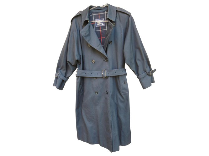 Burberry vintage Burberry trench 40/42 Navy blue color Trench coats Cotton,Polyester Navy blue ref.130373