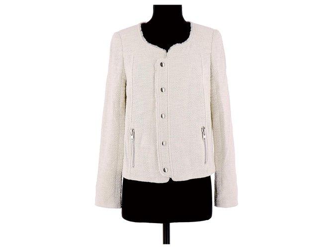 Vestes Bel Air Veste / Blazer Coton Blanc ref.130537